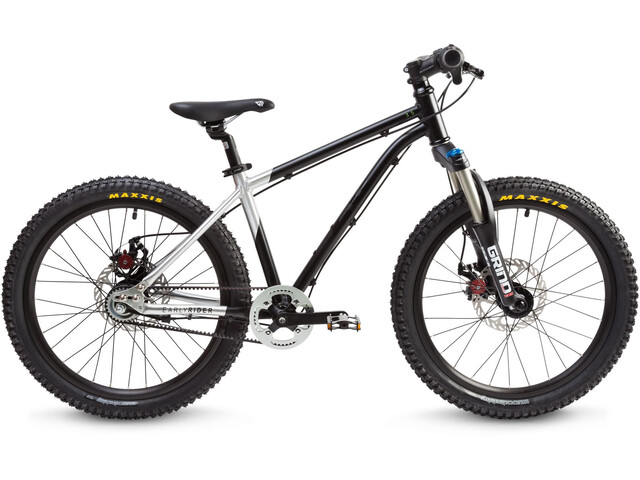 "Early Rider Hellion Trail MTB Hardtail 20"" Kids brushed aluminum/black"